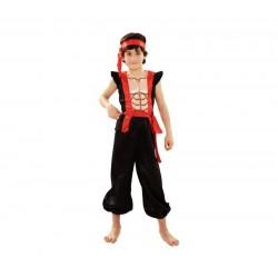 Disfraz ninja musculoso para niño tallas