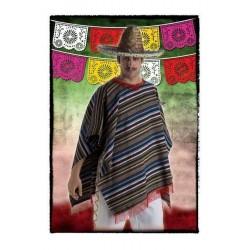 PONCHO MEJICANO ADULTO MEXICANO