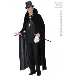 Capa negra terciopelo 145 cm