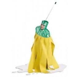 Disfraz fregona amarilla para adulto