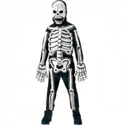 Disfraz esqueleto con huesos 3d fosf. t.l 8-10 año