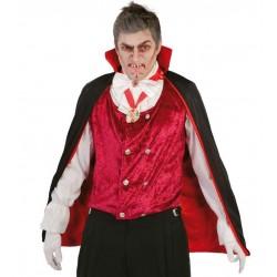Capa vampiro 90 cm negro-rojo