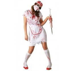 Disfraz enfermera zombie cruz