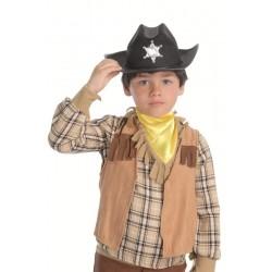 Chaleco vaquero ante infantil