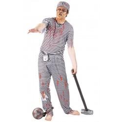 Disfraz preso zombie para hombre talla l