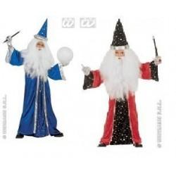 Disfraz brujo niño talla 8-10 años 140 cm azul