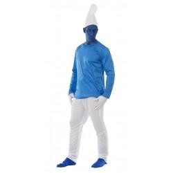 Disfraz enanito azul para hombre talla l