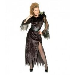 Disfraz de viuda negra. terrorífico y original disfraz de miedo barato. comprar disfraces para halloween. envíos 24/48 h