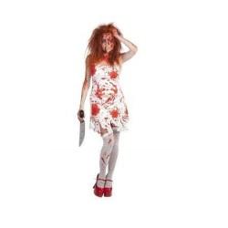 Disfraz de carrie. Terrorifico y original disfraz de miedo barato de poseída. Comprar disfraces para halloween. Envíos 24/48 h