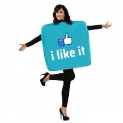Disfraz icono red social me gusta i like it facebo