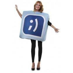 Disfraz icono tuenti red social