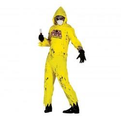 Disfraz hombre radioctivo zombie man 80905