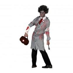 Disfraz doctor del terrror zombie american horror