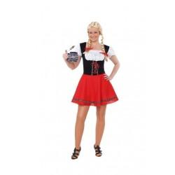 Disfraz tirolesa rojo bavara m-l 706238