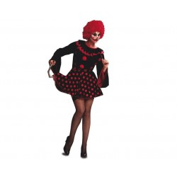 Disfraz payasa diabolica m-l mujer malvada hallowe
