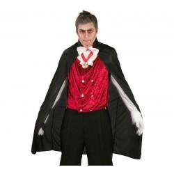 Capa vampiro negra 110 cm para halloween 18332