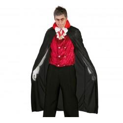 Capa vampiro negra 140 cm para halloween 18335
