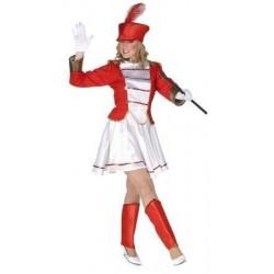 Disfraz majorete circo rojo talla m adulto