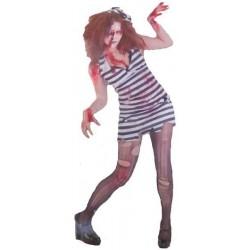 Disfraz prisionera zombie adulto s8287 talla unica