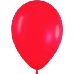 Globo rojo fashion solido r-5 125 cm 100 uds sempertex