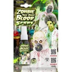 Sangre en spray verde toxica zombie radioactivo
