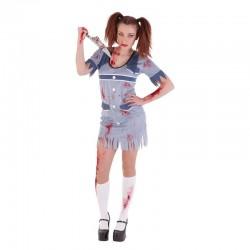 Disfraz colegiala zombie asesina del egb s8277 hal