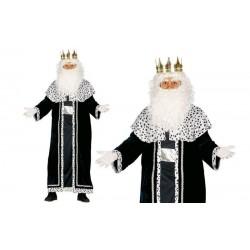 Disfraz rey mago melchor negro adulto talla unica. Divertido y original disfraz barato navideño. Envíos 24/48 horasoras