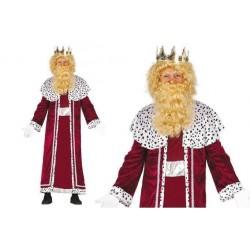 Disfraz rey mago gaspar rojo adulto talla unica. Divertido y original disfraz barato navideño. Envíos 24/48 horasoras