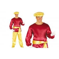 Disfraz paje del rey gaspar rojo adulto 42404