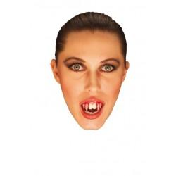Dientes vampiro sangrantes