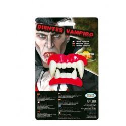 Dentadura vampiro doble