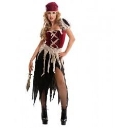 Disfraz pirata aventurera mujer m-l piratesa carib