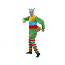 Disfraz gusano multicolor talla m-l para hombre