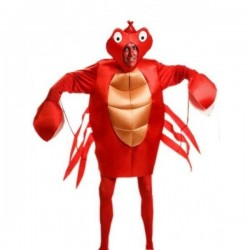 Disfraz cangrejo adulto talla unica