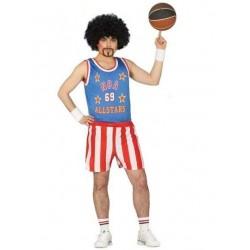 Disfraz jugador de baloncesto harlem glober adulto