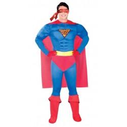 DISFRAZ SUPER HEROE MAN MUSCULOSO 80764