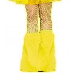 Calentadores amarillos neon para pierna 18490