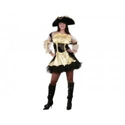 Disfraz pirata oro/negro