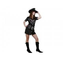 Disfraz vaquera negro oeste bt 02571