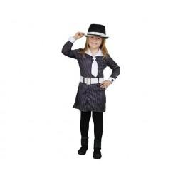 Disfraz gangster niña 7-9 años