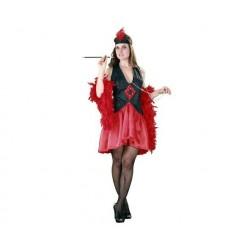 Disfraz mujer años 20 charleston rojo y negro