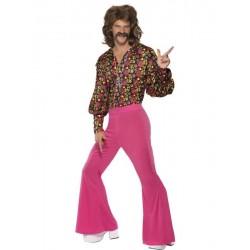 Disfraz hippie años 60 de lujo hippy