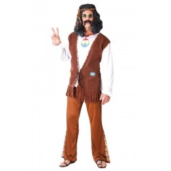 Disfraz hippie marron
