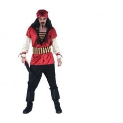 Disfraz pirata rojo del caribe