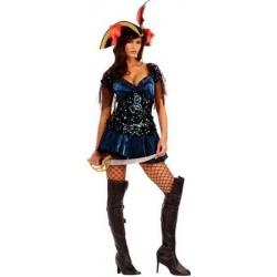 Disfraz chica de alta mar pirata adulto