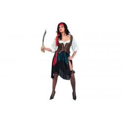 Disfraz corsaria azul piratesa pirata 701969