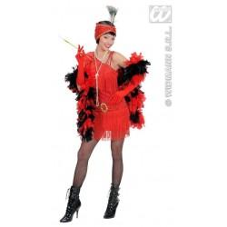 Disfraz charleston años 20 rojo t.m