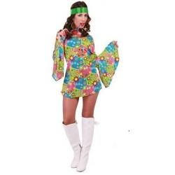Disfraz hippie flower power cinta verde 80638 gui