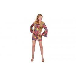 Disfraz hippie sexy vestido años 60 706119