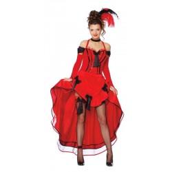 Disfraz can can roja cabaret 80374 gui